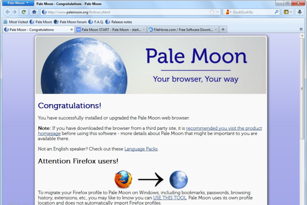 Download Pale Moon Latest Version